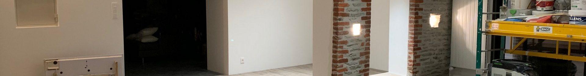 Chantier de peinture intérieure